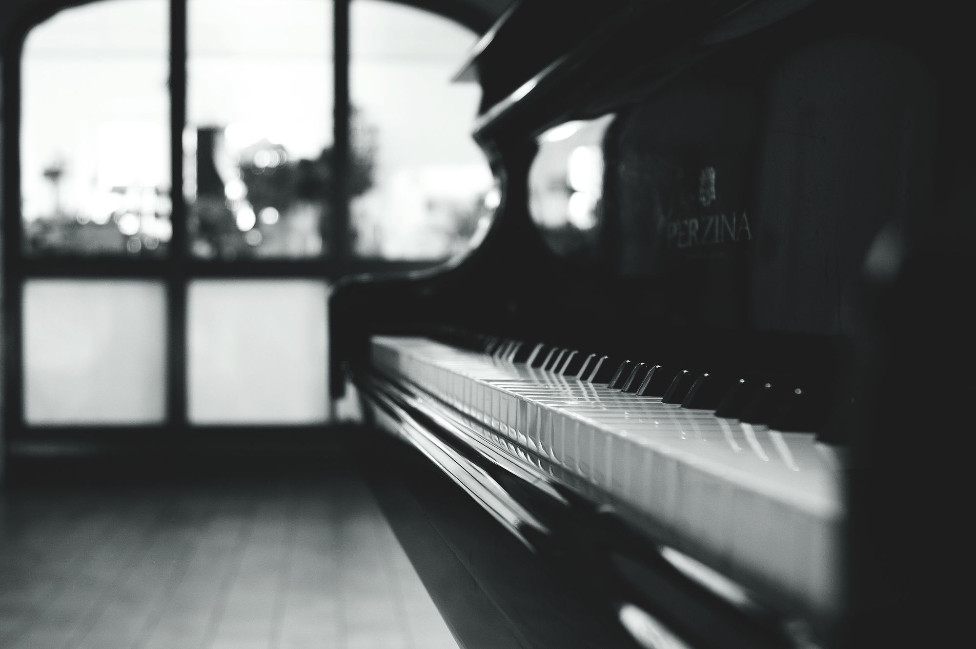 Airbnb with a piano filter